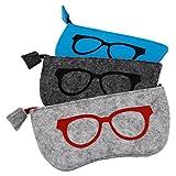 Best Eyeglass Cases - ZZ Sanity (3PCS) Portable Zipper Soft Case Eyesglasses Review