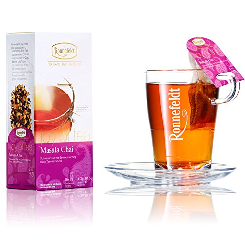 "Ronnefeldt Masala Chai ""joy of tea"" - Schwarzer Tee mit Gewürzmischung, 15 Teebeutel, 64,5 g"