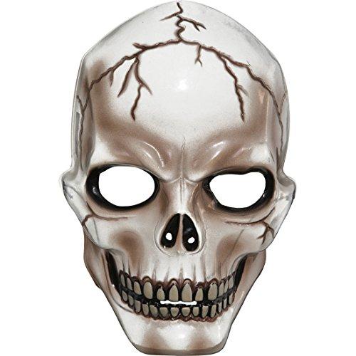 el Horrormaske Schädel Halloweenmaske durchsichtig Horror Totenkopfmaske Totenkopf Maske Karnevalskostüme Accessoires Grusel Faschingsmaske Halloween Zombie Horrormaske ()