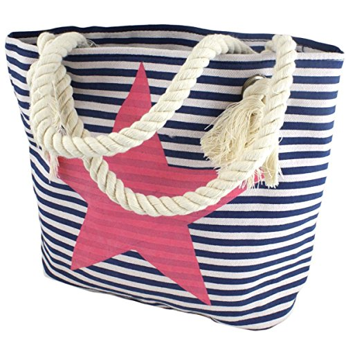 Shopper Sonia Farbe Stern Grau Einkaufstasche Pink Bag Originelli Sarah Marine Rosa Tasche XS EHqrawH