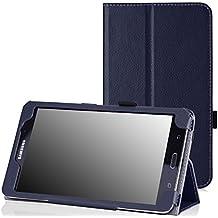 "MoKo LYSB00ITGS0PO-ELECTRNCS 7"" Folio Indigo funda para tablet - fundas para tablets (17,8 cm (7""), Folio, Indigo, Imitación piel, Microfibra, Samsung, Galaxy Tab 4)"