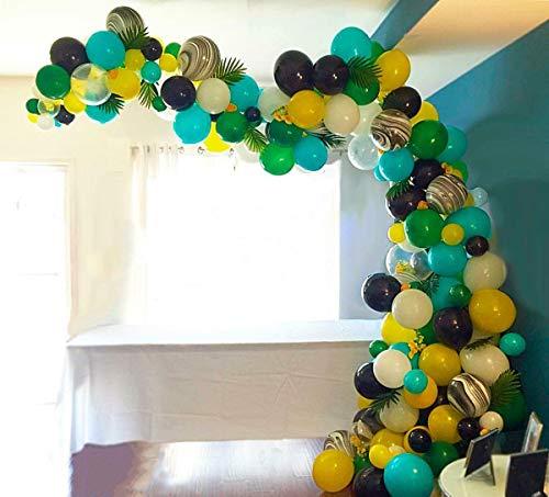 PuTwo Luftballons Satz 105 Stück Party Ballons Latex Luftballons Bunte Dekoration Luftballons Ideale Partydeko Party Zubehör für Dschungel Party/ Safari Party/ Zoo Party/ Kindergeburtstag - Mehrfabrig