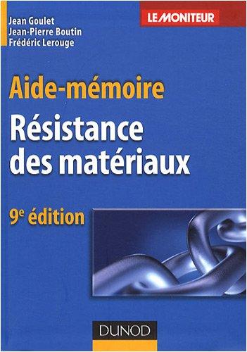 Résistance des matériaux par Jean Goulet