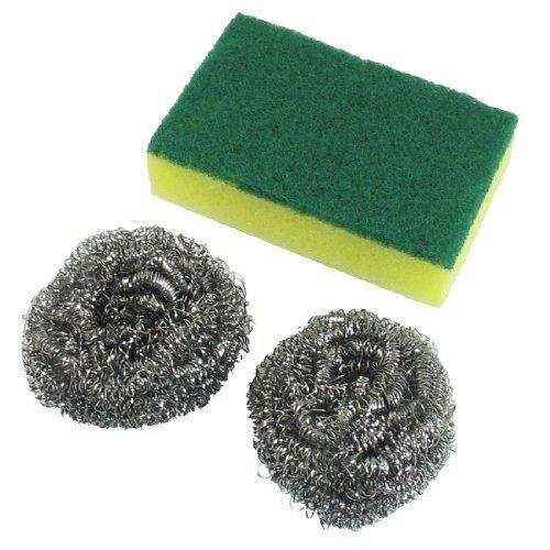 sourcingmap-cble-en-acier-rcurer-nettoyage-balle-2-pcs-w-vert-jaune-plat-tampon-rcurer