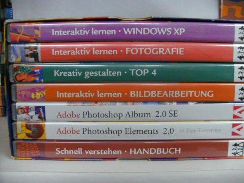 Das digitale Fotolabor ~ Interaktives lernen ~ 1. Windows XP - 2. Fotografie - 3. Kreativ gestalten+ Top 4 - 4. Bildbearbeitung - 5. Adobe Photoshop Album 2.0 SE - 6. Adobe Photoshop Elements 2.0 - 7. Schnell verstehen + Handbuch