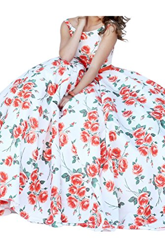 TOSKANA BRAUT - Robe - Trapèze - Femme Rose Rose Rouge - Rouge