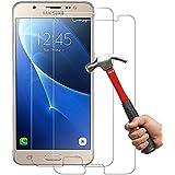[2-Unidades] Samsung Galaxy J7 (2016 ) Protector de Pantalla Hepooya Galaxy J7 2016 Cristal Templado Samsung J7 2016 Cristal Protector [Alta Definicion] [ sin Burbujas] [ 9H Dureza] [Ultra-trasparente] [Anti-golpe] [Ajuste Perfecto] Pantalla J7 2016
