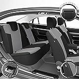 DBS 1012948 Fundas de asientos de Coche - A Medida - Acabado de coche de alta gama - Instalación rápida - Compatible Airbag - Isofix