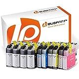 Bubprint 10er Set Druckerpatronen kompatibel für Brother MFC-J4410DW MFC-J470DW DCP-J4110DW Drucker LC-123 LC123 mit Chip