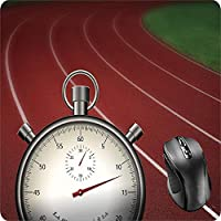 BGLKCS Mouse Pad Fabric Topped Rubber Backed Track and Field Lanes Stopwatch Time Race Games Sport Jogging