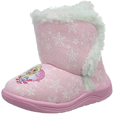 Die Eiskönigin Girls Kids Velcro High Houseshoes - Pantuflas cálidas con forro Niñas