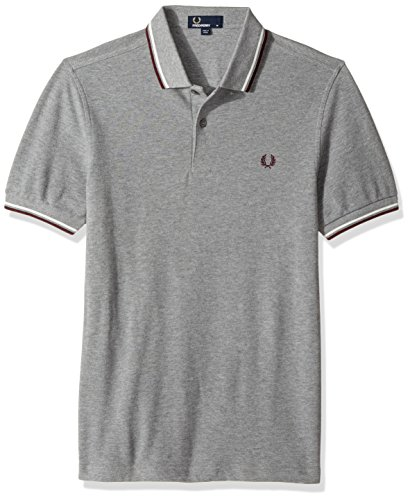 Fred Perry Fp Twin Tipped, Polo para Hombre, Multicolor (Smarl/Snw/Port), Large