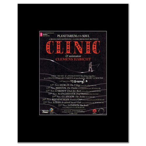 clinic-uk-tour-2008-matted-mini-poster-14x108cm