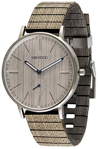 WEWOOD Orologio Analogico Quarzo Uomo con Cinturino in Legno WW63001