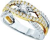 Jewels By Lux Damen Zwei Brautringe 10