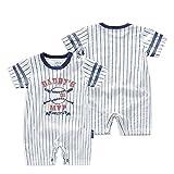 Traje de Ropa para Bebé niños recién Nacidos Batas de Verano Mameluco de Manga Corta,Numero 01 Daddy'S MVP [59CM]
