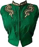 V.K.Creation Green Hand Work Designer Sa...