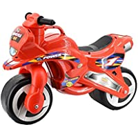 deAO Ride On Toddlers Balance Motorbike - Pedal Free Bike for Children in a Cool Red Design