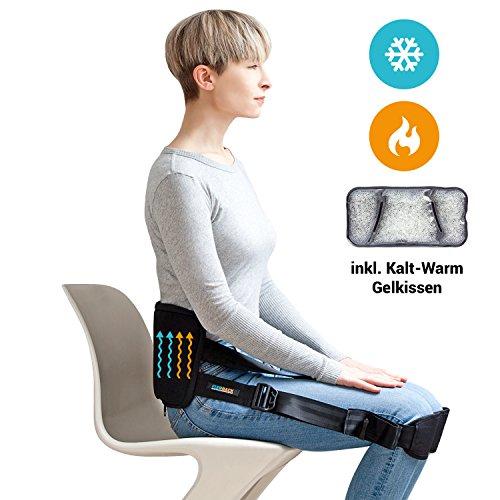 FIXOBACK Rückengurt & Haltungstrainer inkl. Kalt Warm Gelkissen für gesundes Sitzen - Geradehalter & Rückentrainer für eine aufrechte Körperhaltung und zur Linderung von Rückenschmerzen