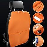 Auto Rückenlehnenschutz wasserdicht Rückenlehnenschutz für Auto Auto Rücksitz Organizer für Kinder Multifunktionen Rückenlehnen-Tasche Auto mit durchsichtigem iPad-Tablet-Halter Kick-Matten-Schutz