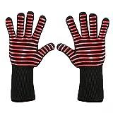 POIUDE Ausverkauf BBQ Handschuhe Ofenhandschuhe Hitzebeständige BBQ Professionelle zertifizierte Küchenhandschuhe(EIN, Free Size)
