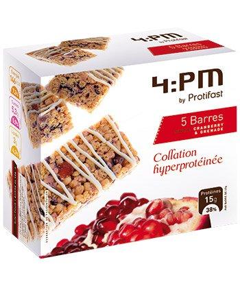 Protifast - 4:Pmp Barres Hyperprotéinées Cranberry-Grenade 5 Unités