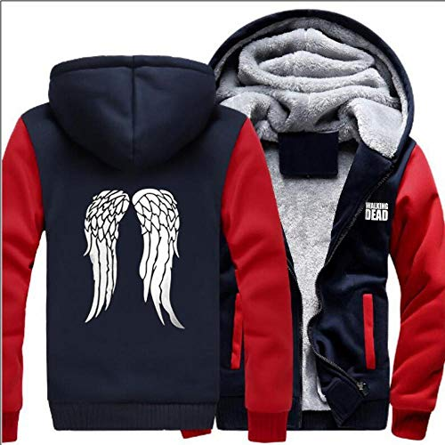 UnisexHoodie The Walking Dead Plus Velvet Padded Cardigan Jacken-Winter-Eindickung Lose Zipper Strickjacke Mit Kapuze Strickjacke Warm B-S