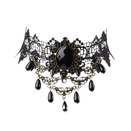 Wildlead Lady Retro Lolita Gothic Lace Tassel Kragen Halskette Choker 10 Styles