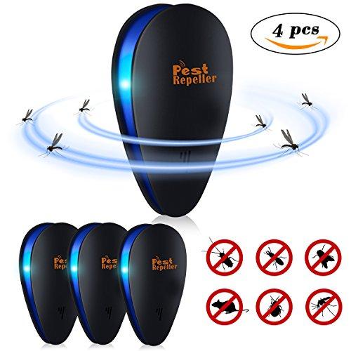 Janolia 4pza Repellente Ultrasuoni, Repellente per Insetti Elettrico, Plug-in con Luce Notturna...
