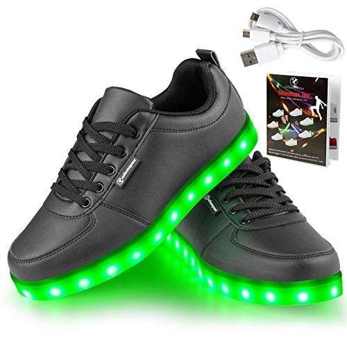 Angin-Tech-Serie-de-Adultos-Zapatillas-LED-USB-de-Carga-de-7-Colores-de-Luz-Zapatillas-con-Luces-del-Zapato-por-la-Fiesta-de-Baile-de-Navidad-de-San-Valentn-con-el-CE-CertificadoBlack35