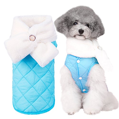 Bwiv Fleece Prinzessin Haustier Katze Hund Welpe Kleider Weihnachten Weste Overall Kostüm warme Winter-Outfit kleiner Hund A (Hergestellt Den Usa In Kostüme)
