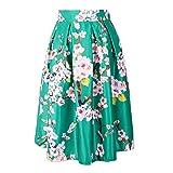 Search : LAEMILIA Women's High Waist Floral Jacquard Pleated A Line Skirt Vintage Full Circle Flare Skater Midi Skirt Dress