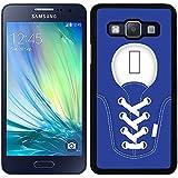 Funda carcasa para Samsung Galaxy A5 diseño zapatilla cordones color azul marino borde negro