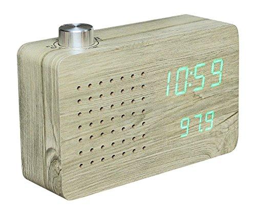 Radio Click Clock  Ash / Green LED