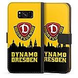 Samsung Galaxy S8 Tasche Leder Flip Case Hülle Sg Dynamo Dresden Fanartikel Bundesliga