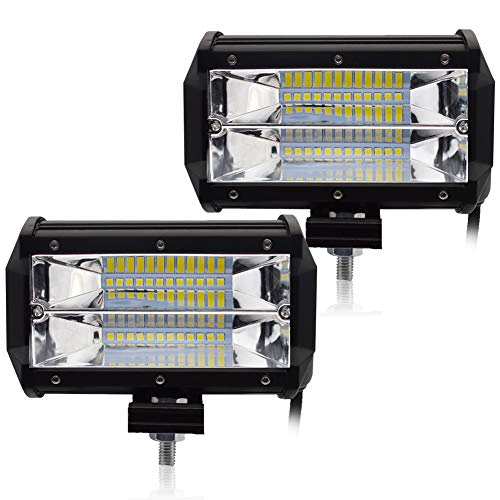 LncBoc Focos Coche 72W LED Potentes 2PCS IP67 Impermeable