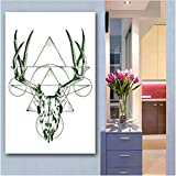 huayao Nordic Animal Oil Painting Canvas Art Print Poster Wall Pictures For Living Room Home Decor 40 * 60Cm No Frame