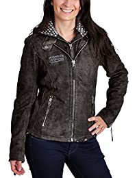 Wonder chaqueta de la mujer Damen Leder con capucha y logo de DC Comics de  cuero a3f44163748af