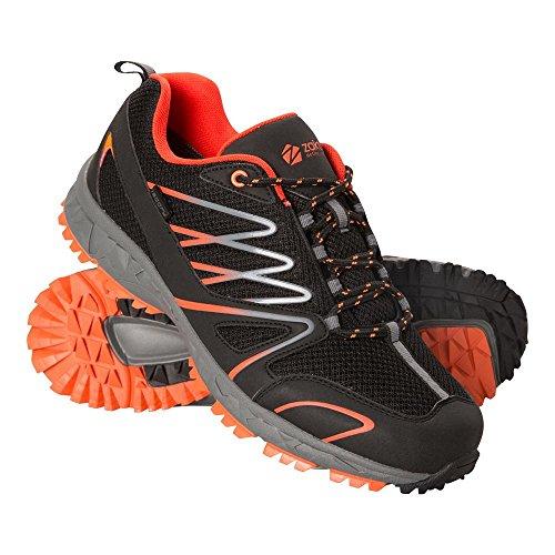 Mountain Warehouse Enhance Wasserfeste Laufschuhe für Herren - Atmungsaktive Freizeitschuhe, Weiche Wanderschuhe, strapazierfähige Herrenschuhe - Schuhe für Den Alltag Schwarz 45