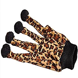 Mascota Gato Gato Leopardo guante Teaser Jugar Juguetes Felpa guante bola Teaser Toy
