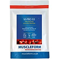Muscleform Vi-Pro 93 'Time Release' 93% Protein Isolate Blend 2kg Re-Sealable Pouch - Fast Delivery - Strawberry | Free Express Delivery