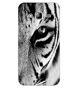 ColourCraft Tiger Close-up Design Back Case Cover for SAMSUNG GALAXY J3 (2016)