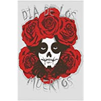 Interestprint Dia De Los Muertos Girl Polyester Garten Flagge Haus Banner  30,5 X 45