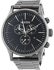 Nixon Herren-Armbanduhr XL Sentry Chrono Chronograph Quarz Edelstahl A3861885-00
