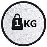 Titanweiss Rutil - Oxidweiß Pigmentfarbe Oxidpigment Titandioxid Eisenoxid Weißmacher Trockenfarbe - 1Kg Beutel - zum Einfärben von Beton, Estrich, Putz usw.