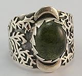 Moldavit Ring Schmuck–Sterling Silber–Atemberaubende Baum Design