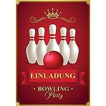 10 Einladungskarten Zum Kindergeburtstag Bowling / Einladungen Geburtstag