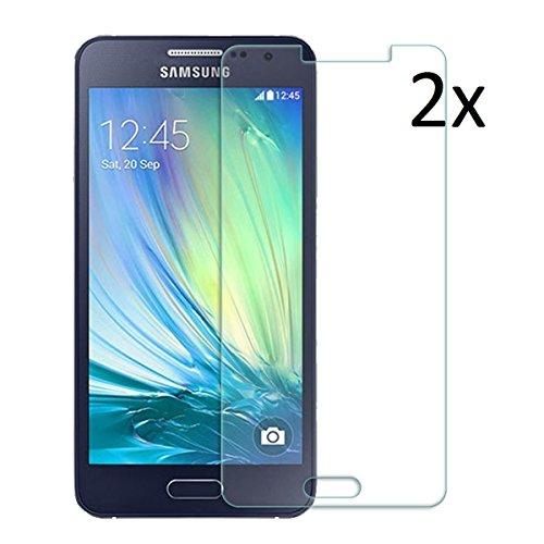 [2 Stück] CÄSAR-GLAS Panzerglas Schutzglas für Samsung Galaxy A3 2016, Anti-Kratzen, Anti-Öl, Anti-Bläschen, lebenslange Garantie