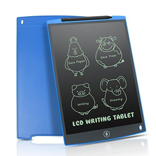 Stift Schreiben, Notizbuch Mit (Newyes 12-Zoll Writing Tablet/ LCD Grafiktablet/ Elektronischer Notizblock umweltfreundlich für Schreiben und Malen mit Stift (Blau))