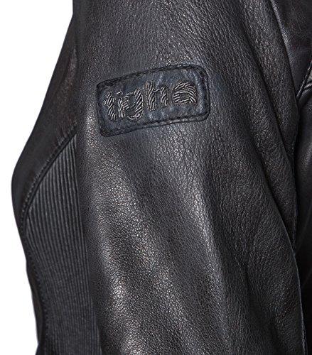 TIGHA Damen Lederjacke Gipsy Bikerjacke Jacke Leder – Leder – grau vintage black L - 4
